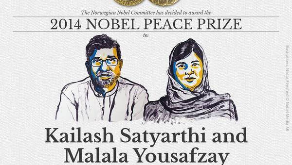 Kailash Satyarthi and Malala Yousafzay win Nobel peace prize 2014