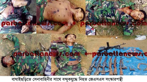 Biggest ever weapon recovery by army men in Rangamati after signing Peace Accord